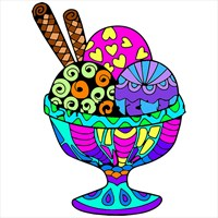 Ice Cream Color By Number - Food Coloring Book beziehen ...