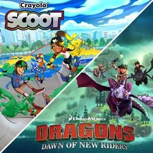 Dreamworks Dragons Dawn of New Riders and Crayola Scoot Xbox One