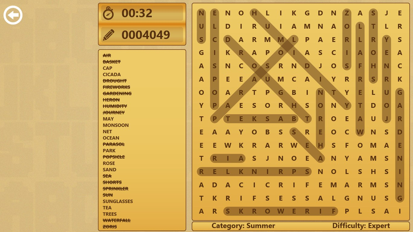 Word Search for HP
