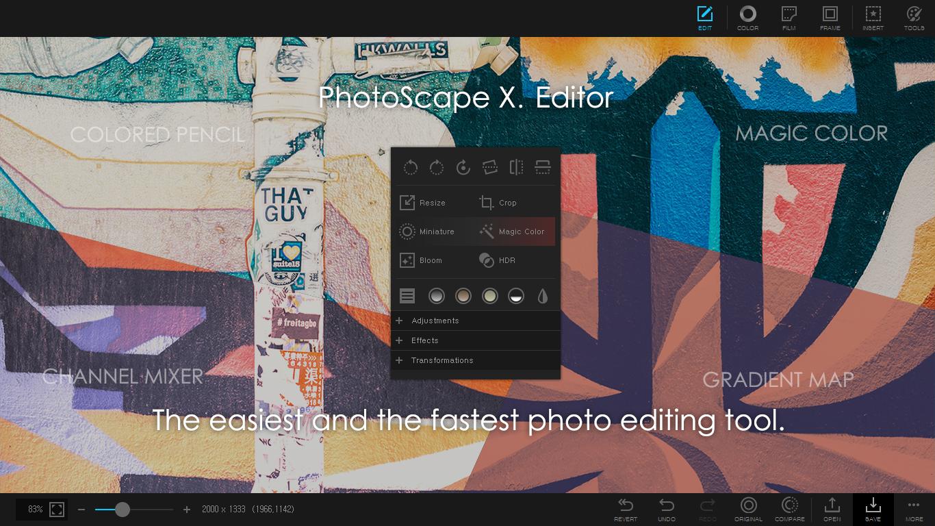 PhotoScape X para Windows 10