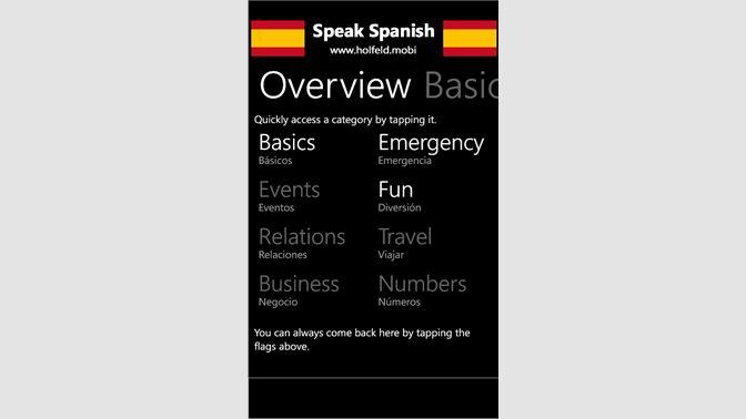 Get Speak Spanish FREE - Microsoft Store