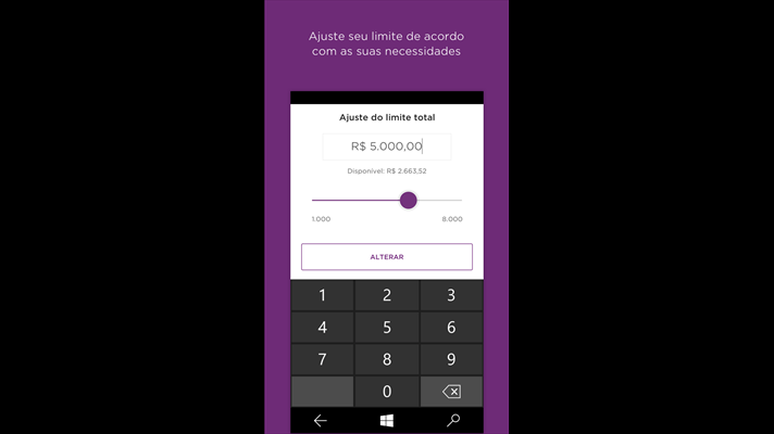 Nubank Windows Phone app updated with Card Tracking 5
