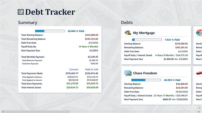 buy debt tracker microsoft store