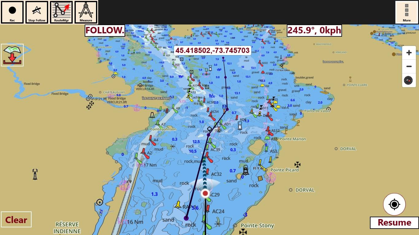 Get iBoating GPS Nautical Marine Charts offline sea lake