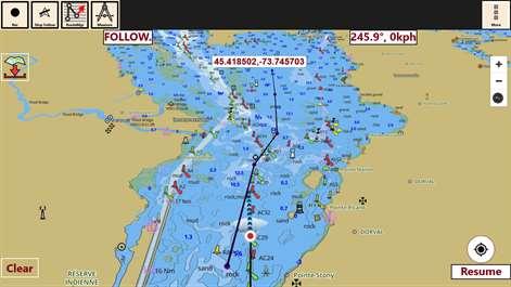 Buy IBoating USA GPS Nautical Marine Charts Offline Sea - Boat accessibility map us
