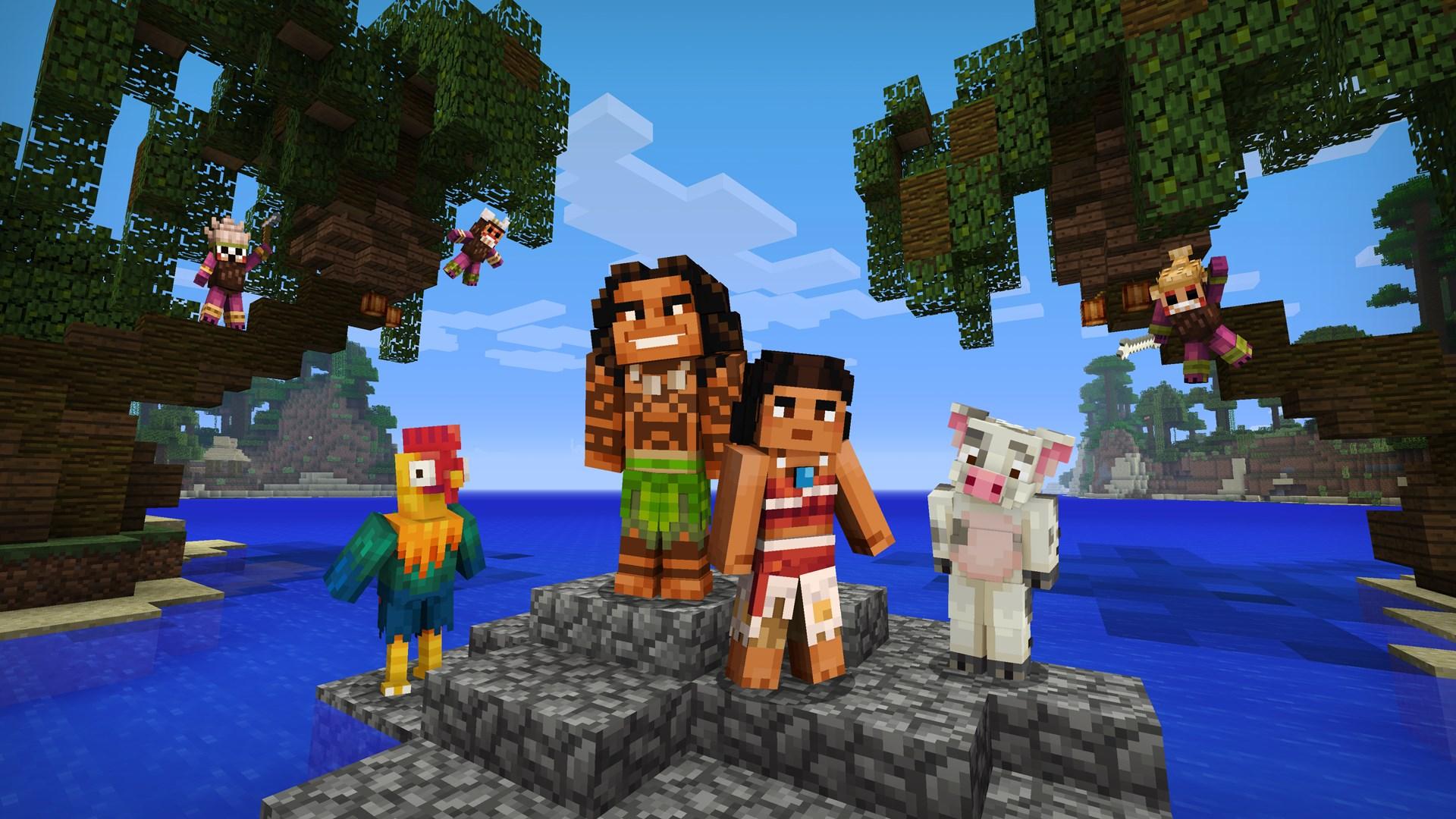 Pacote de Personagens de Moana do Minecraft
