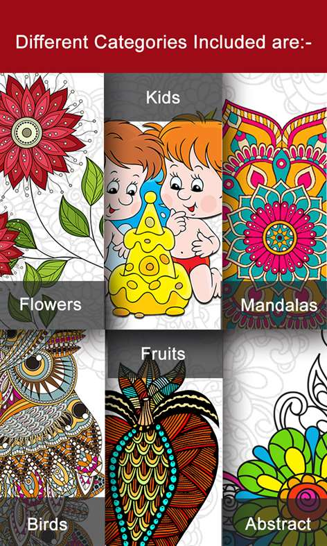 screenshot - Abstract Coloring Books