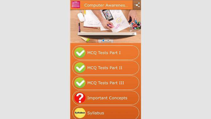 Get Computer Awareness MCQ Tests - Microsoft Store