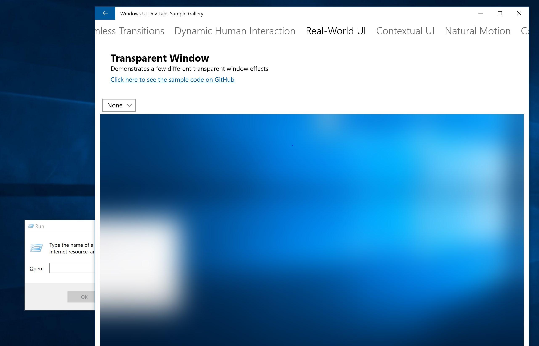 Windows UI Dev Labs Sample Gallery for Windows 10 Mobile