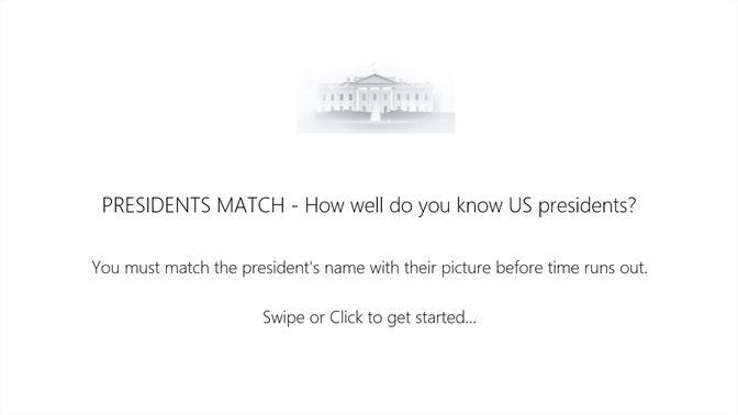 Get President Matching Game - Microsoft Store