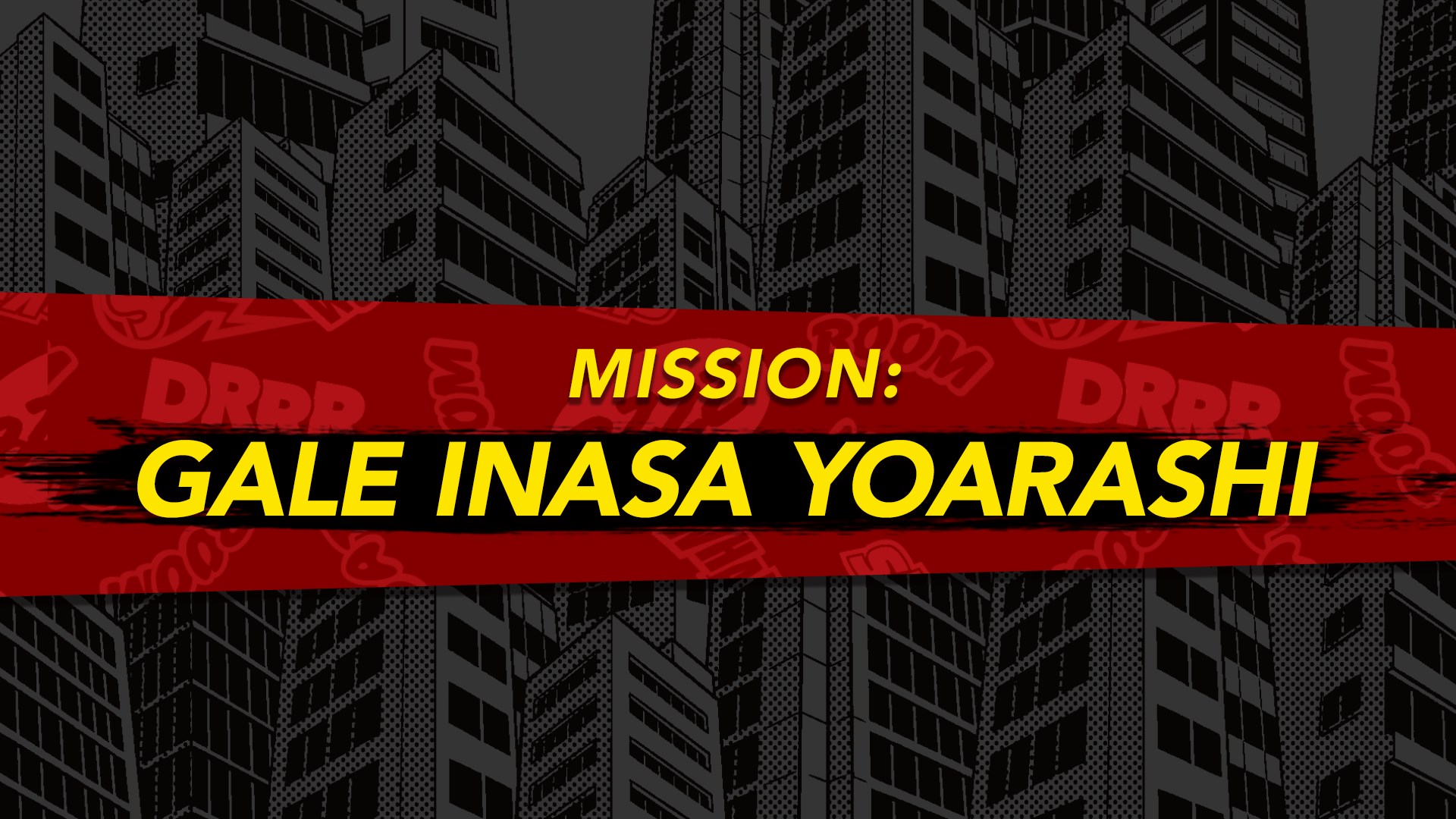 MY HERO ONE'S JUSTICE Mission: Gale Inasa Yoarashi