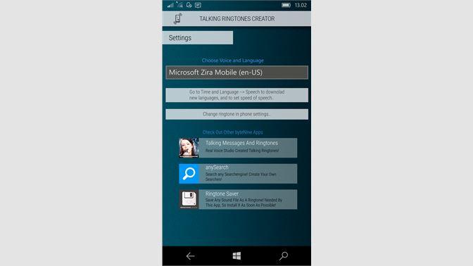 Get Talking Ringtones Creator - Microsoft Store