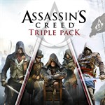 Assassin's Creed Triple Pack: Black Flag, Unity, Syndicate Logo