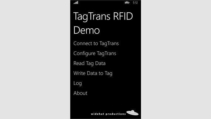 Get TagTrans RFID Demo - Microsoft Store