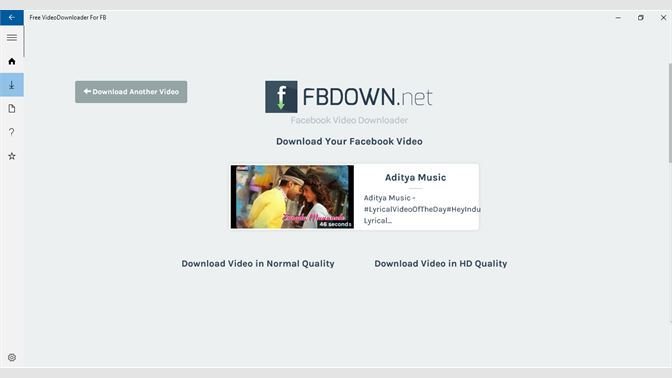 Get Free VideoDownloader For FB - Microsoft Store