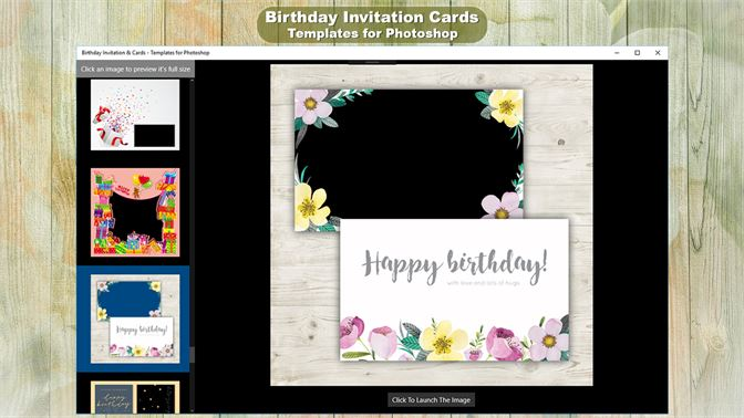 Buy Birthday Invitation Cards Templates For Photoshop Microsoft Store En Sa