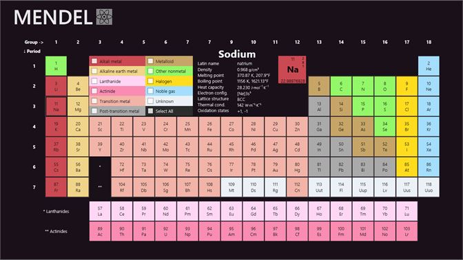 Get periodic table mendel microsoft store screenshot element detail urtaz Choice Image