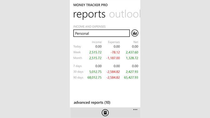 get money tracker free microsoft store