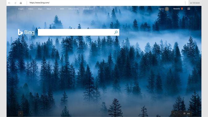 Microsoft kiosk browser app