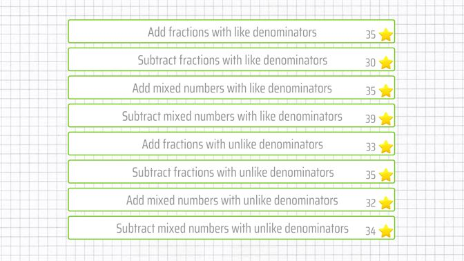 شراء Add and subtract fractions - 5th grade math skills - Microsoft Store  ar-DZ