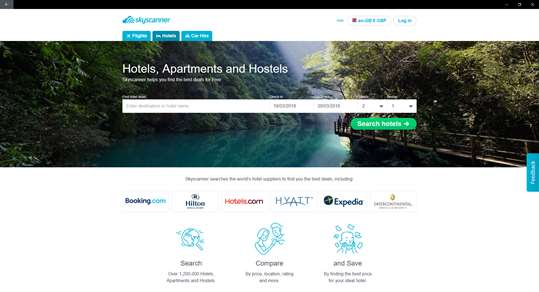 Skyscanner screenshot 2