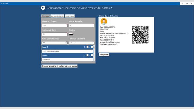 Gnration De Carte Visite Avec Code Barres