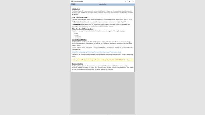 Get Web API for Google Maps Quick Guide FREE - Microsoft