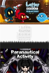 Carátula del juego Letter Quest: Grimm's Journey/ Three Fourths Home: Extended Edition/ Paranautical Activity Bundle