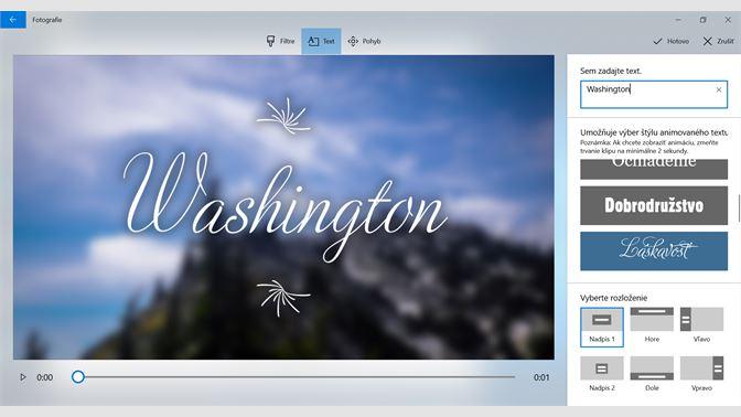 d5ae6f130 Do albumov a videí môžete pridávať text alebo používať filtre a pohyb ...