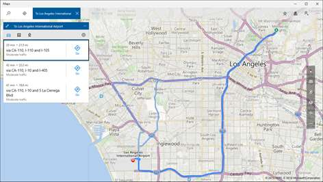 Get windows maps microsoft store screenshot get driving walking and transit directions then let maps guide you gumiabroncs Image collections