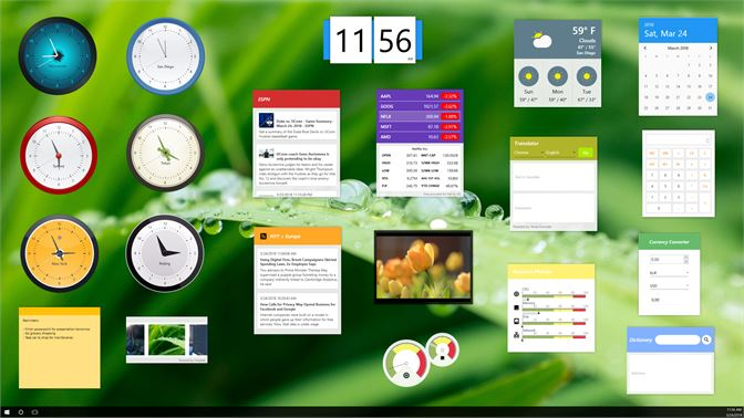 Dozens of beautiful widgets to choose from.