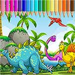 Dinasour Coloring Book For Kids Learning