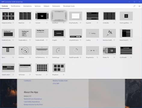 UWP Community Toolkit Sample App Screenshots 2