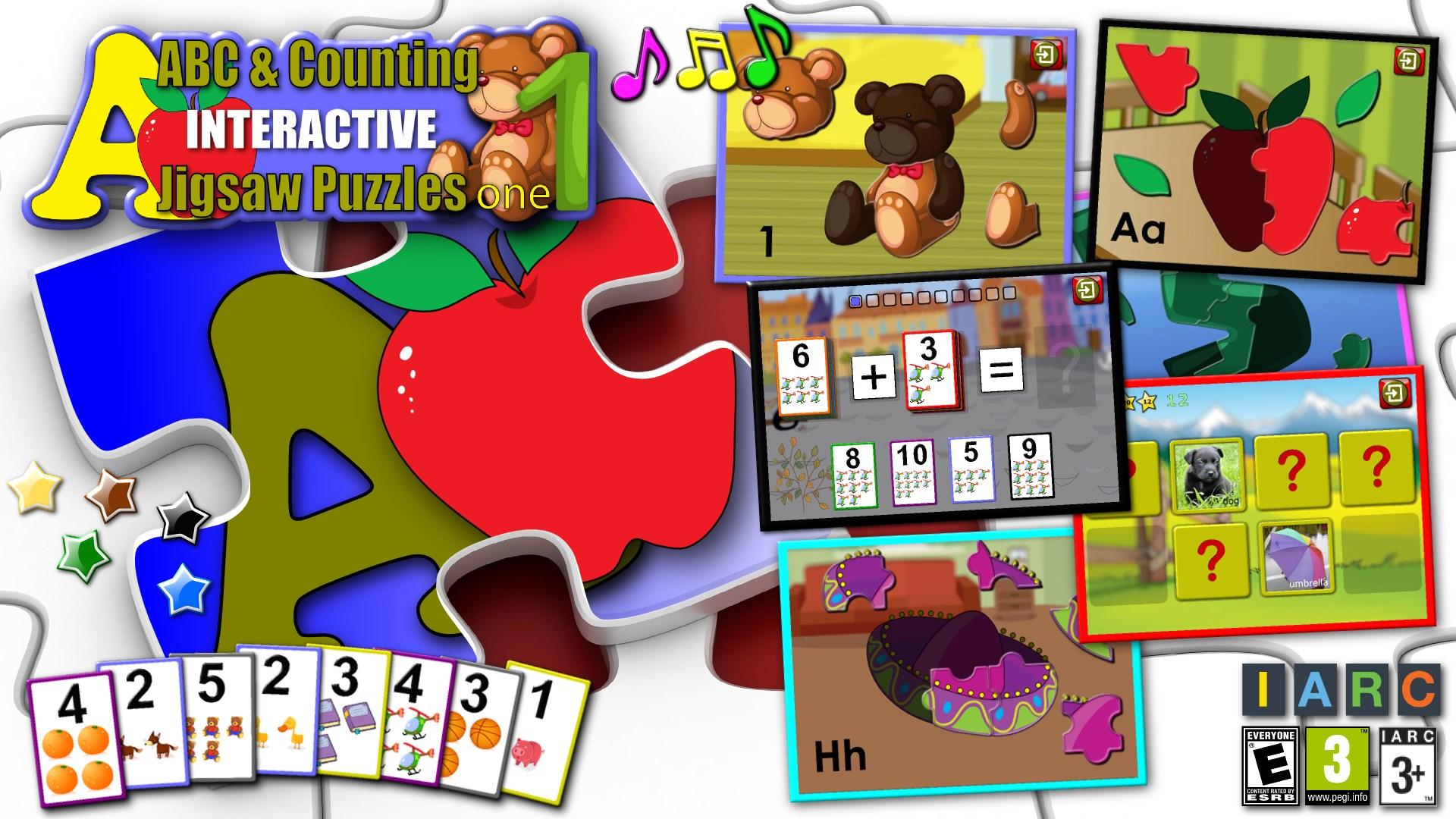 çocuklar Abc Ve Sayma Yapboz Oyunu öğretir Alfabesi Ve Aritmetik