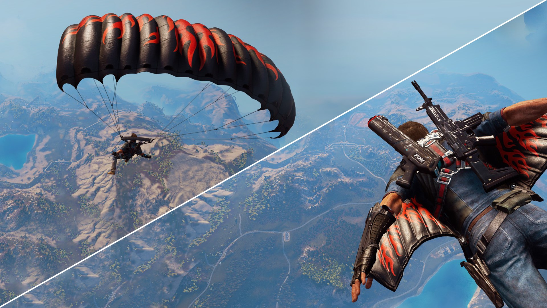 Flame Wingsuit and Parachute Skins