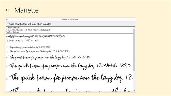 Buy handwriting fonts microsoft store screenshot each font is shown in various sizes as it will look when installed fandeluxe Choice Image