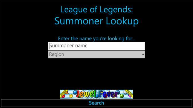 summoner game lookup
