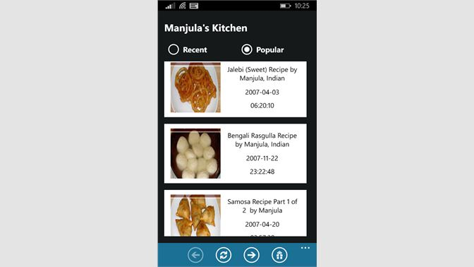 screenshot 1 - Manjulas Kitchen 2