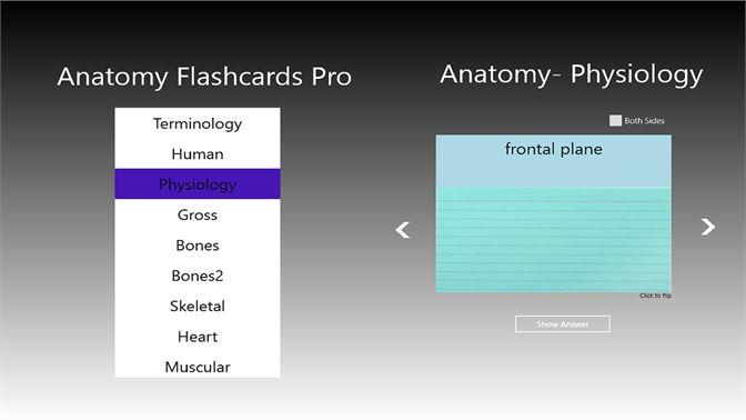 Buy Anatomy Flashcards Pro Microsoft Store