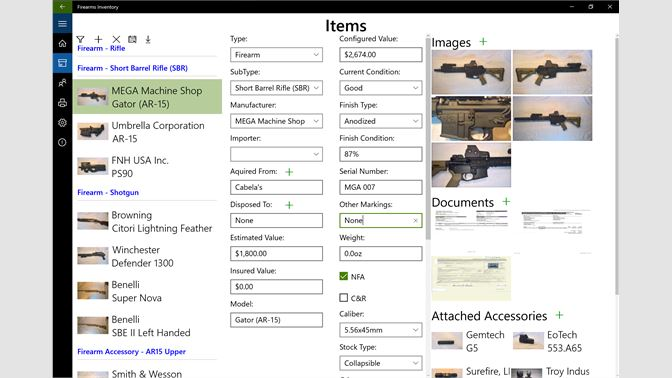 Buy Firearms Inventory Microsoft Store - Invoice sample word document gun store online