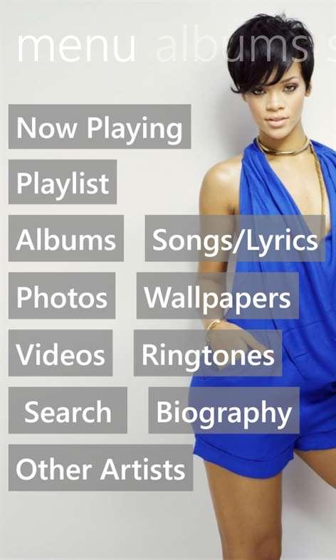 ... Rihanna Discography Lyrics apk screenshot ...