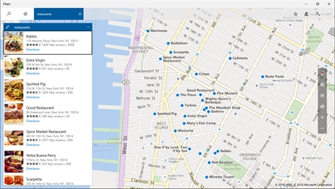 Windows Maps Screenshot