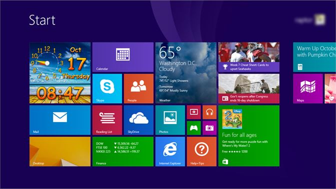 432fe5f4ce2 ... Large size clock tile on the Start Screen of Windows 8.1 ...