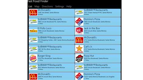 FastFoodFinder Screenshots 1