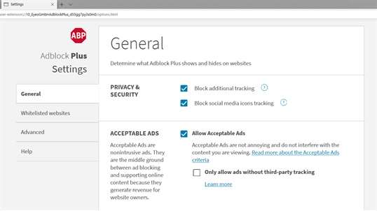 Adblock Plus (Beta) screenshot 2