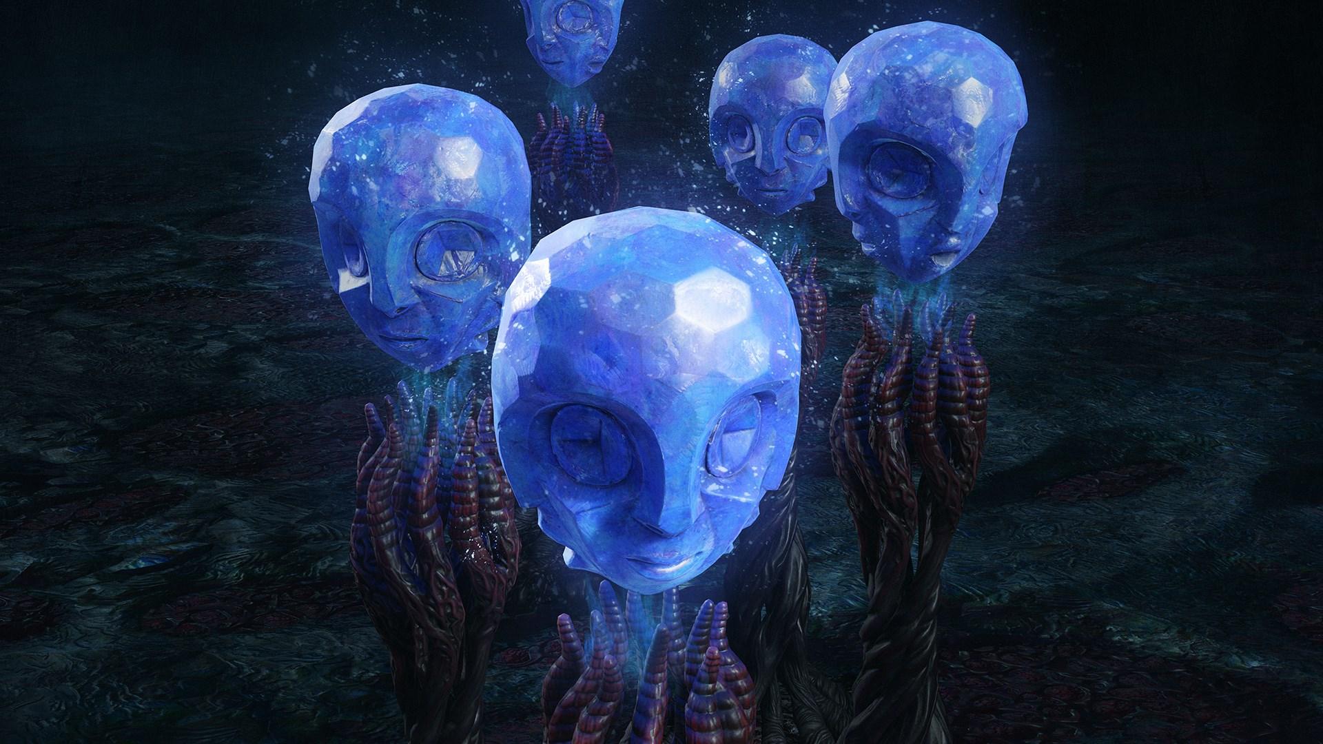 5 синих сфер
