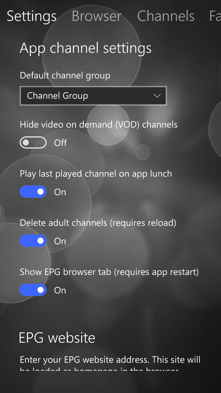 MyIPTV Player for Windows 10