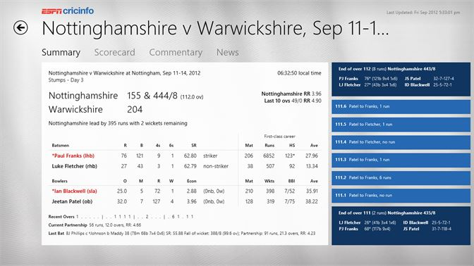 Get ESPN Cricinfo - Microsoft Store en-GB