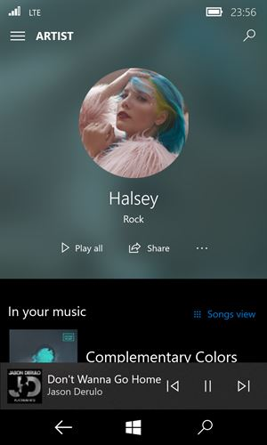 Groove Music Screenshot