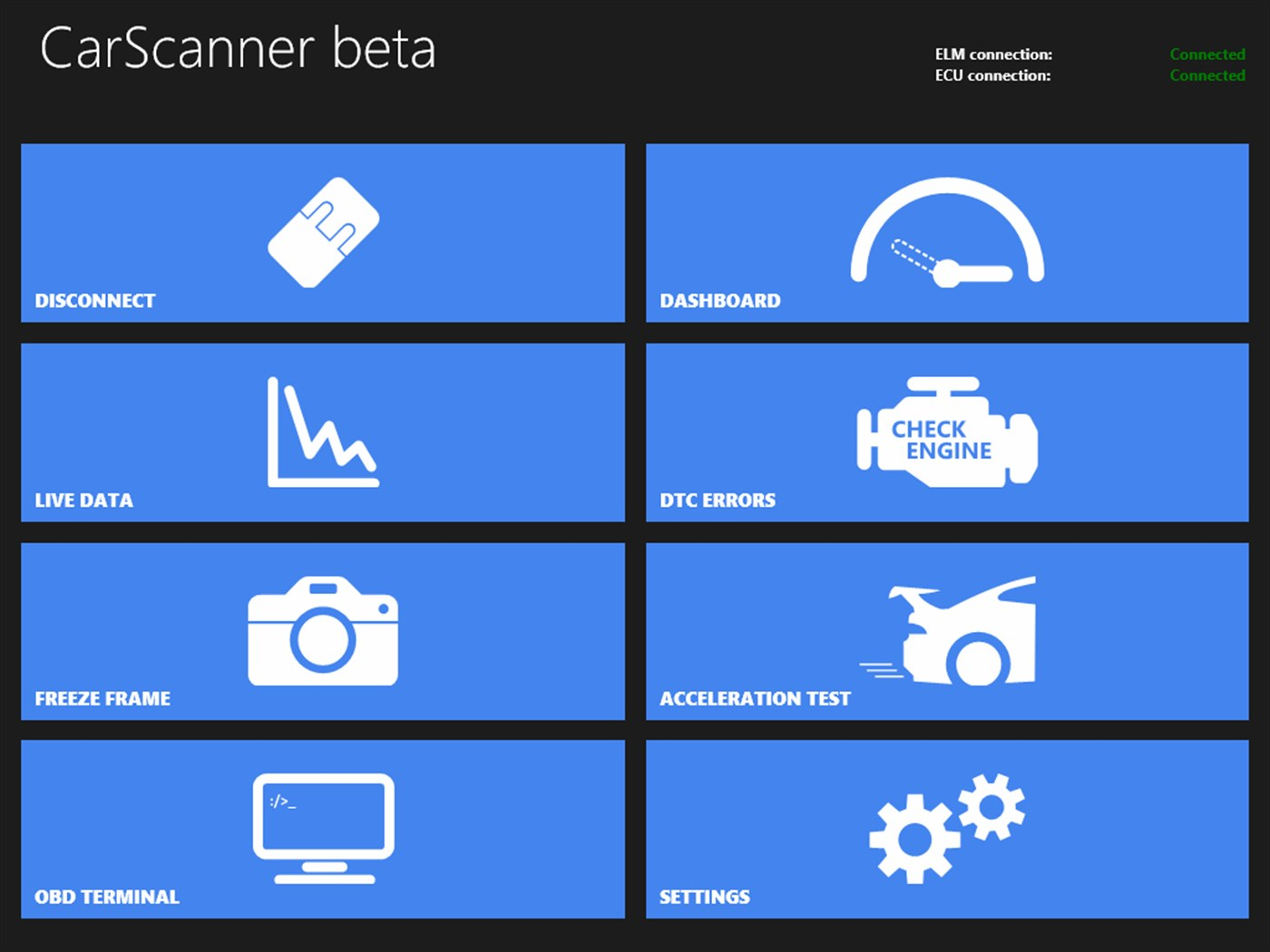 Car Scanner ELM OBD2 has a friendly interface.